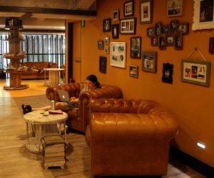 Lounge im Generator Hostel