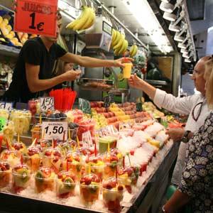 Markt Barcelona Früchtebecher