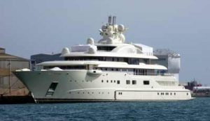 Jachthafen Barcelona Luxusjacht