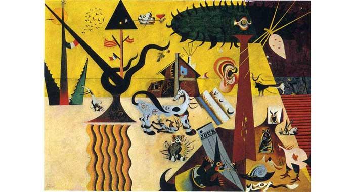 Gepflügte Erde Miró