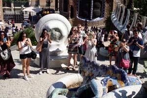 Sehensürdigkeit-Barcelona-Park-Güell Salamander