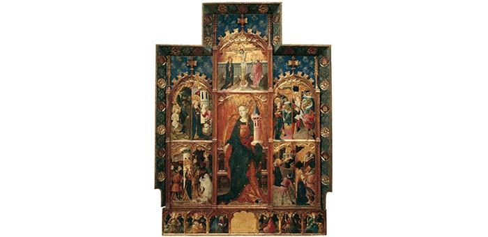 Altarbild Santa Barbera Gonçal Peris Sarriá